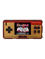 cheap -3.0 Classic Retro Handheld Game Player children's video game Console Built-in 638 Classic FC Games Support 2 Players TV-Output