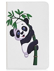 Panda and Bamboo Pattern Card Holder Wallet with Stand Flip Magnetic PU Leather Case for Samsung Galaxy TAB A 10.1 T580N T585N 10.1 inch Tablet PC