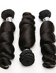 Virgin Brazilian Bundle Hair Loose Wave Hair Extensions 3 Pieces Black