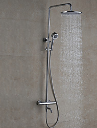 cheap -Contemporary Modern/Contemporary Wall Mounted Rain Shower Handshower Included Ceramic Valve Chrome, Shower Faucet