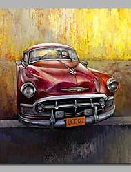 abordables -decoración de la pared del coche clásico pintado a mano pinturas al óleo contemporáneas obras de arte moderno arte de la pared