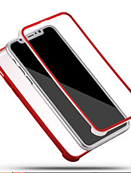 Per iPhone X iPhone 8 iPhone 8 Plus Custodie cover Resistente agli urti Integrale Custodia Tinta unica Morbido Silicone per Apple iPhone