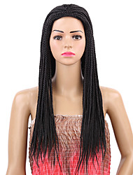 cheap -Women Synthetic Wig Capless Long Afro Black Braided Wig Natural Wigs Costume Wig