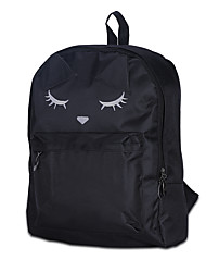 preiswerte -Damen Taschen Leinwand Rucksack für Normal Draussen Ganzjährig Weiß Schwarz Purpur Fuchsia