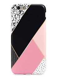 Pour iPhone 7 iPhone 7 Plus Etuis coque Ultrafine Motif Coque Arrière Coque Formes Géométriques Flexible PUT pour Apple iPhone 7 Plus