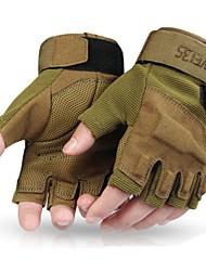 Недорогие -Спортивные перчатки Перчатки для велосипедистов Нескользящий / Защитный / Впитывает пот и влагу Без пальцев Ткань / Нейлон Велосипедный спорт / Велоспорт Муж.