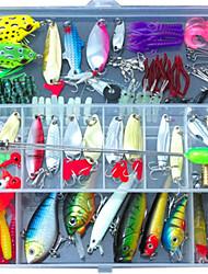 134 pcs Jig Head Shad Grub Soft Jerkbaits Hard Bait Soft Bait Spoons Craws / Shrimp Frog Minnow Crank Pencil Popper Vibration/VIB Lure