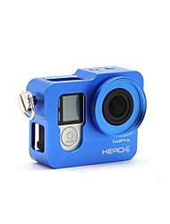 Aluminum Alloy Frame Mount Protective Housing Case Shell for GoPro  4 Blue