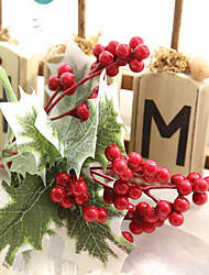 10 Branches Simulation Flowers Beans Christmas Berries Wedding Silk Flowers Home Decoration