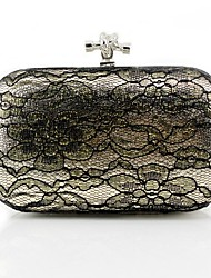 Women Bags All Seasons PU Evening Bag Lace for Wedding Event/Party Gold