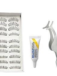 Cílios Cílios Tiras Completas de Cílios Olhos Universal Comprimento Natural Fibra Banda Preta