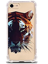 cheap -For iPhone X iPhone 8 Case Cover Ultra-thin Transparent Pattern Back Cover Case Animal Soft TPU for Apple iPhone X iPhone 8 Plus iPhone 8