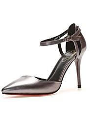 Damen Schuhe Leder Sommer Pumps High Heels Spitze Zehe Für Normal Silber Königsblau Champagner