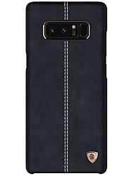 preiswerte -Hülle Für Samsung Galaxy Note 8 Ultra dünn Rückseitenabdeckung Volltonfarbe Hart Echtes Leder für Note 8