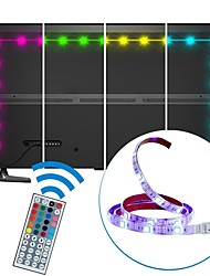 2m usb led strip light imperméable à l'eau smd5050 rgb led strip flexible led lights 44keys remote tv background lighting dc5v