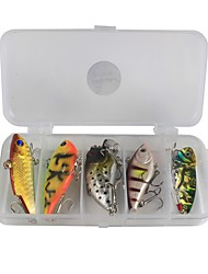 cheap -10 pcs Fishing Accessories Set Lure Packs g/Ounce mm inch,Plastic Carbon Steel Sea Fishing Bait Casting Ice Fishing Spinning Freshwater