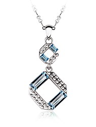 cheap -Women's Heart Personalized Fashion Choker Necklace Pendant Necklace Crystal Cubic Zirconia Zircon Silver Plated Choker Necklace Pendant