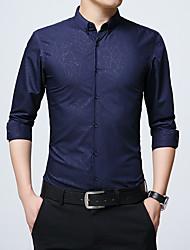 abordables -Chemise Grandes Tailles Homme, Géométrique simple Mince