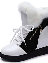 Women's Boots Fall / Winter Snow Boots / Fashion Boots Leather Outdoor / Casual Flat Heel Lace-up Walking / Snow Boots