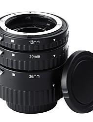 12mm20mm36mm af auto foco Tubos de extensão de abs ajustados para câmeras nikon dslr (nw-n-af1-bl)