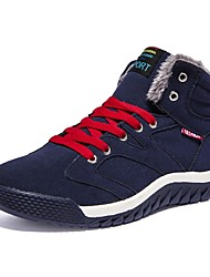 Men's Shoes Leatherette Fall Winter Fluff Lining Sneakers Split Joint For Casual Blue Green Black