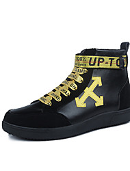 Men's Shoes Fabric Summer Fall Comfort Light Soles Sneakers Lace-up For Casual Outdoor Black/Yellow Black/White