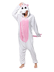 cheap -Kigurumi Pajamas Unicorn Onesie Pajamas Costume Coral fleece Pink Cosplay For Adults' Animal Sleepwear Cartoon Halloween Festival /