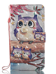 For Case Cover Card Holder Wallet with Stand Flip Pattern Full Body Case Owl Hard PU Leather for Samsung Galaxy J7 (2016) J7 (2017) J5