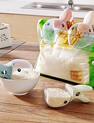 cheap -Rice Measuring Cup Cereals Rice Bags Sealing Clip Creative Duck Rice Shovel Water Spoon