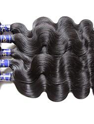 i fasci di capelli umani peruviani superiori dell'onda del corpo 5pieces 500g lotto il nero naturale naturale 100% materiale dei capelli