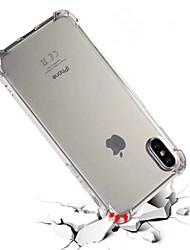 Недорогие -Назначение iPhone X iPhone 8 iPhone 8 Plus Чехлы панели Защита от удара Полупрозрачный Задняя крышка Кейс для Сплошной цвет Мягкий