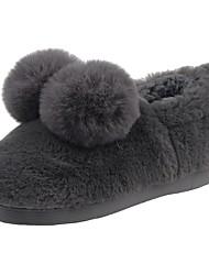 Da ragazzo Scarpe Velluto Inverno Comoda Fodera di pelliccia Fodera di lanugine Pantofole e infradito Pompon Per Casual Nero Grigio