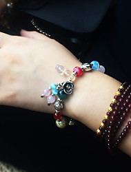 cheap -Women's Girls' Strand Bracelet Natural Fashion Crystal Alloy Flower Jewelry For Gift Daily
