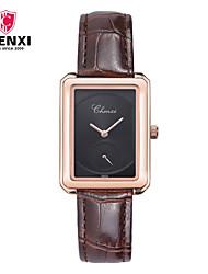 CHENXI® Dámské Hodinky k šatům Módní hodinky čínština Křemenný Kůže Kapela Přívěsek Běžné nošení Luxusní Hnědá