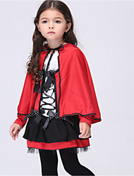 cheap -Little Red Riding Hood Cosplay Costume Halloween Festival / Holiday Halloween Costumes Red Fashion
