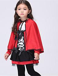 abordables -Le petit Chaperon rouge Costume de Cosplay Halloween Fête / Célébration Déguisement d'Halloween Rouge Mode