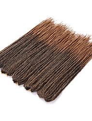 "Twist Braids Hair Braid Crochet 100% Kanekalon Hair Black/Purple Black/Strawberry Blonde Medium Auburn Strawberry Blonde 18"" 1 Piece"