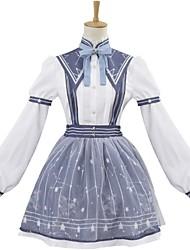 One-Piece/Dress Socks/Stockings Sweet Lolita Elegant Princess Cosplay Lolita Dress Stripe Galaxy Long Sleeves Knee-length Headband Socks