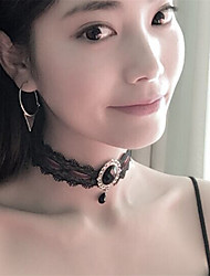 cheap -Women's Single Strand Unique Design Dangling Style Pendant Vintage Rhinestone Acrylic Fashion Euramerican Choker Necklace Crystal