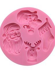 moldes de pastel para pastel de silicona de alta calidad molde de pastel de navidad, herramienta de la hornada