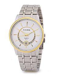 cheap -Men's Quartz Wrist Watch Chinese Calendar / date / day Metal Alloy Band Charm Sparkle Simulated Diamond Watch Dress Watch Elegant Fashion