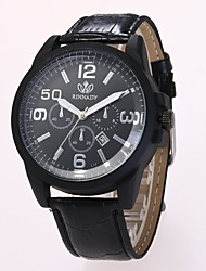 abordables -Hombre Cuarzo Reloj de Pulsera Reloj de Vestir Reloj de Moda Chino Gran venta PU Banda Casual Negro Marrón