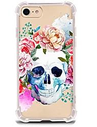 preiswerte -Für iPhone X iPhone 8 Hüllen Cover Ultra dünn Transparent Muster Rückseitenabdeckung Hülle Totenkopf Motiv Weich TPU für Apple iPhone X