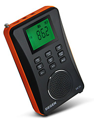 cheap -DE26 FM AM Portable Radio MP3 Player TF CardWorld ReceiverBlack