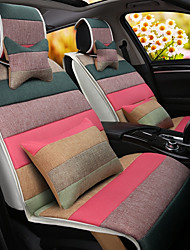 cheap -A Rainbow Cartoon Car Cushion Linen Cushion Seat Cover Seat Four Seasons General All Around Whole Linen -4#