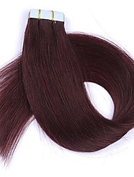 cheap -16''18''20''22'' 24'' Tape In Real Human Hair Extensions Straight 20 pcs Tape In Hair