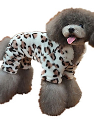 cheap -Dog Jumpsuit Dog Clothes Casual/Daily Leopard Leopard Costume For Pets
