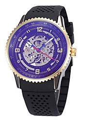 Men's Women's Skeleton Watch Wrist watch Mechanical Watch Japanese Automatic self-winding Calendar Chronograph Water Resistant / Water