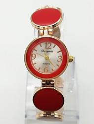 Mulheres Relógio de Moda Bracele Relógio Relógio Casual Quartzo Lega Banda Pontos Casual Ouro Rose
