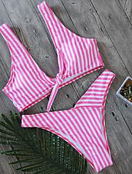 preiswerte -Damen Blumig / Tiefer Ausschnitt / Mit Schleife Bikinis - Druck